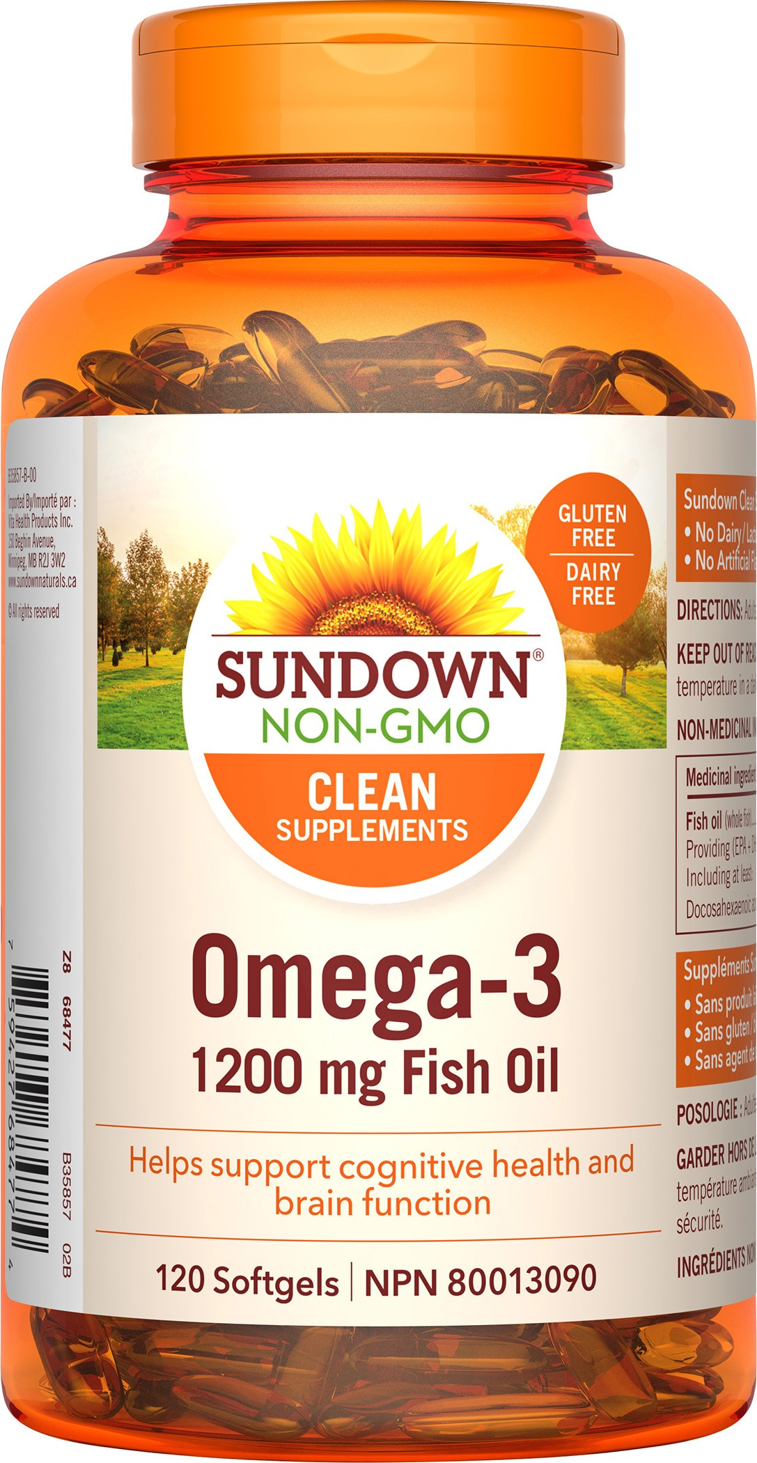 Sundown naturals canada fish oil wild alaskan salmon for Salmon fish oil